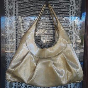 Sigrid Olsen Gold Patent Leather Shoulder Bag